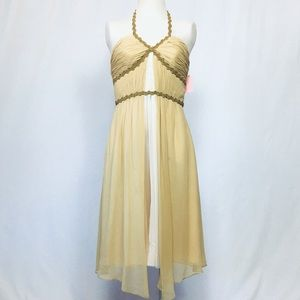 Silk Grecian Helena cocktail dress